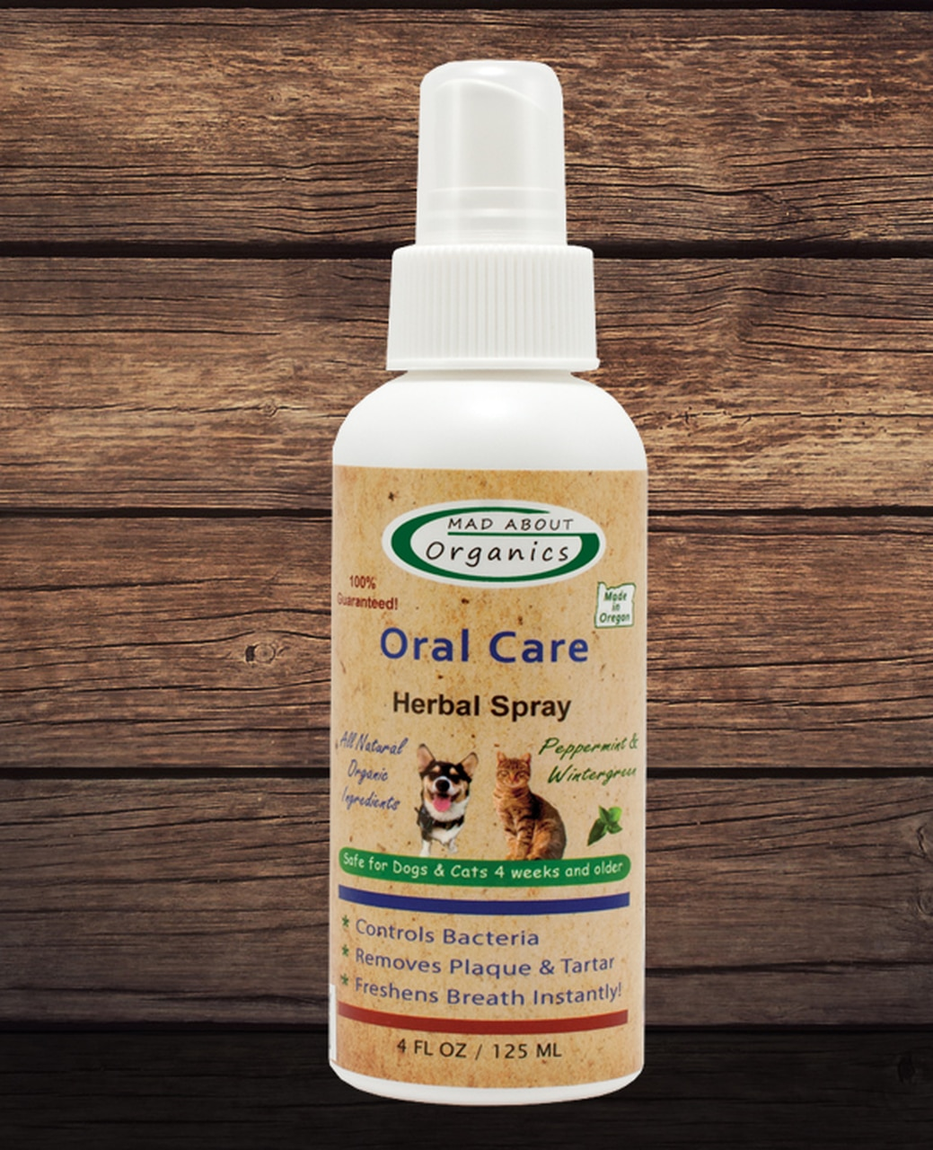 Mad About Organics Oral Care Herbal Spray for Dogs & Cats, 4-oz