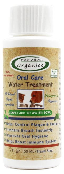 Mad About Organics Oral Care Water Treatment for Cats & Dogs