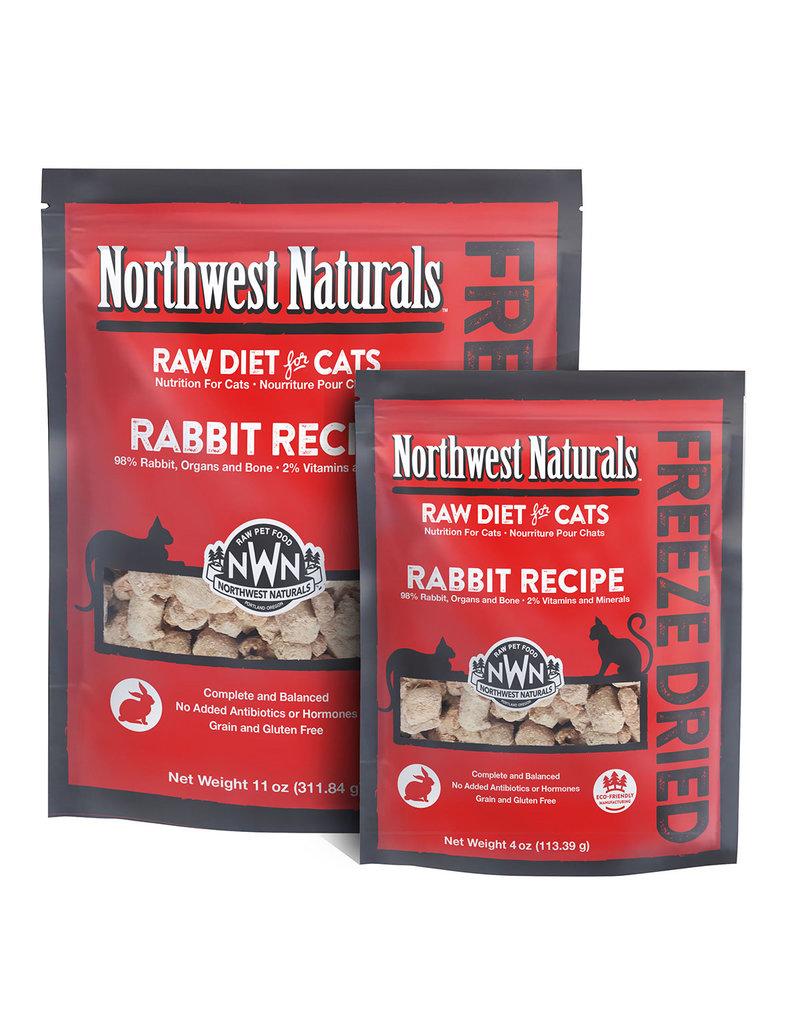 Northwest Naturals Raw Diet Grain-Free Rabbit Nibbles Freeze Dried Cat Food
