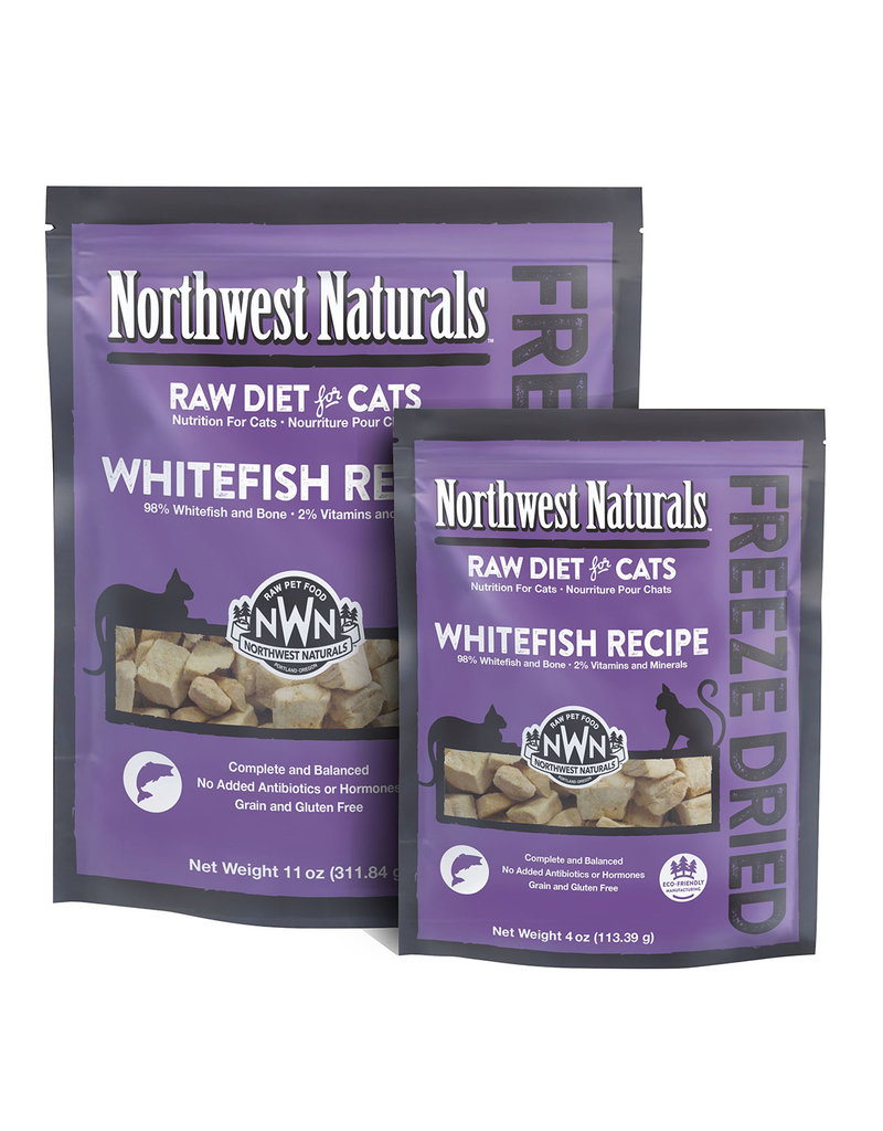 Northwest Naturals Raw Diet Grain-Free Whitefish Nibbles Freeze Dried Cat Food