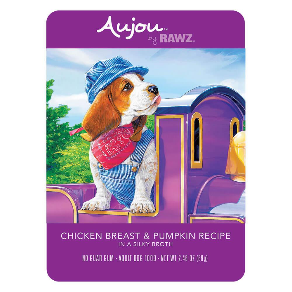 Aujou Chicken & Pumpkin Pouch Dog Food