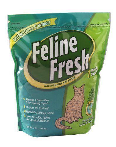 Feline Fresh Natural Pine Cat Litter Pellets, 7-lbs