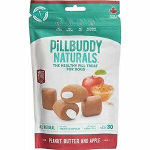 Pill Buddy Naturals Peanut Butter & Apple Recipe Pill Treats for Dogs, 5.29-oz