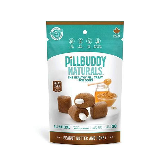 Pill Buddy Naturals Peanut Butter & Honey Recipe Pill Treats for Dogs, 5.29-oz