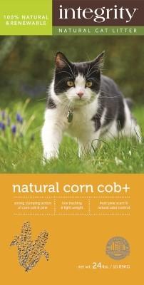 Integrity Natural Clumping Corn Cat Litter, 24-lb