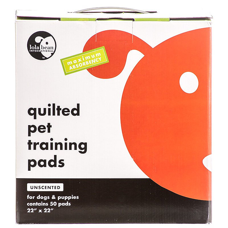 Lola Bean Unscented Quilted Training Pads 22x22, 50-count