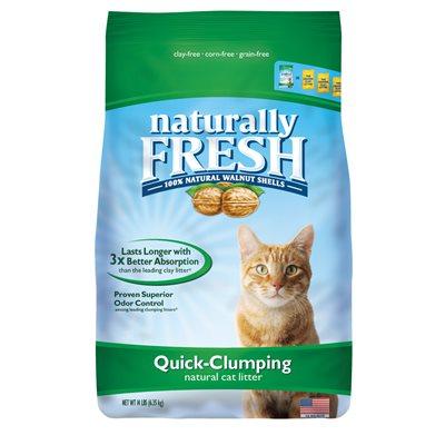 Naturally Fresh Walnut Based Quick Clumping Cat Litter, 6-lb