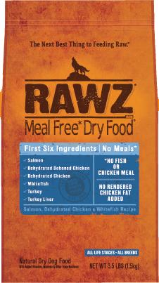 RAWZ Meal Free Dry Dog Food Salmon, Chicken & Whitefish Recipe