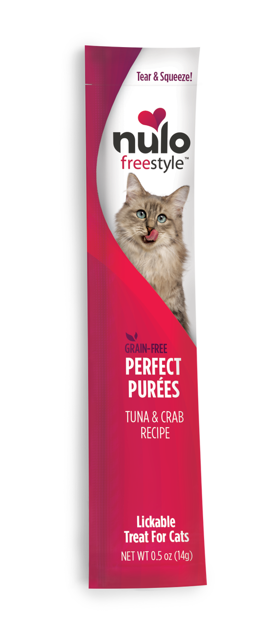 Nulo Cat FreeStyle Perfect Puree Tuna & Crab Lickable Cat Treat, 0.5-oz