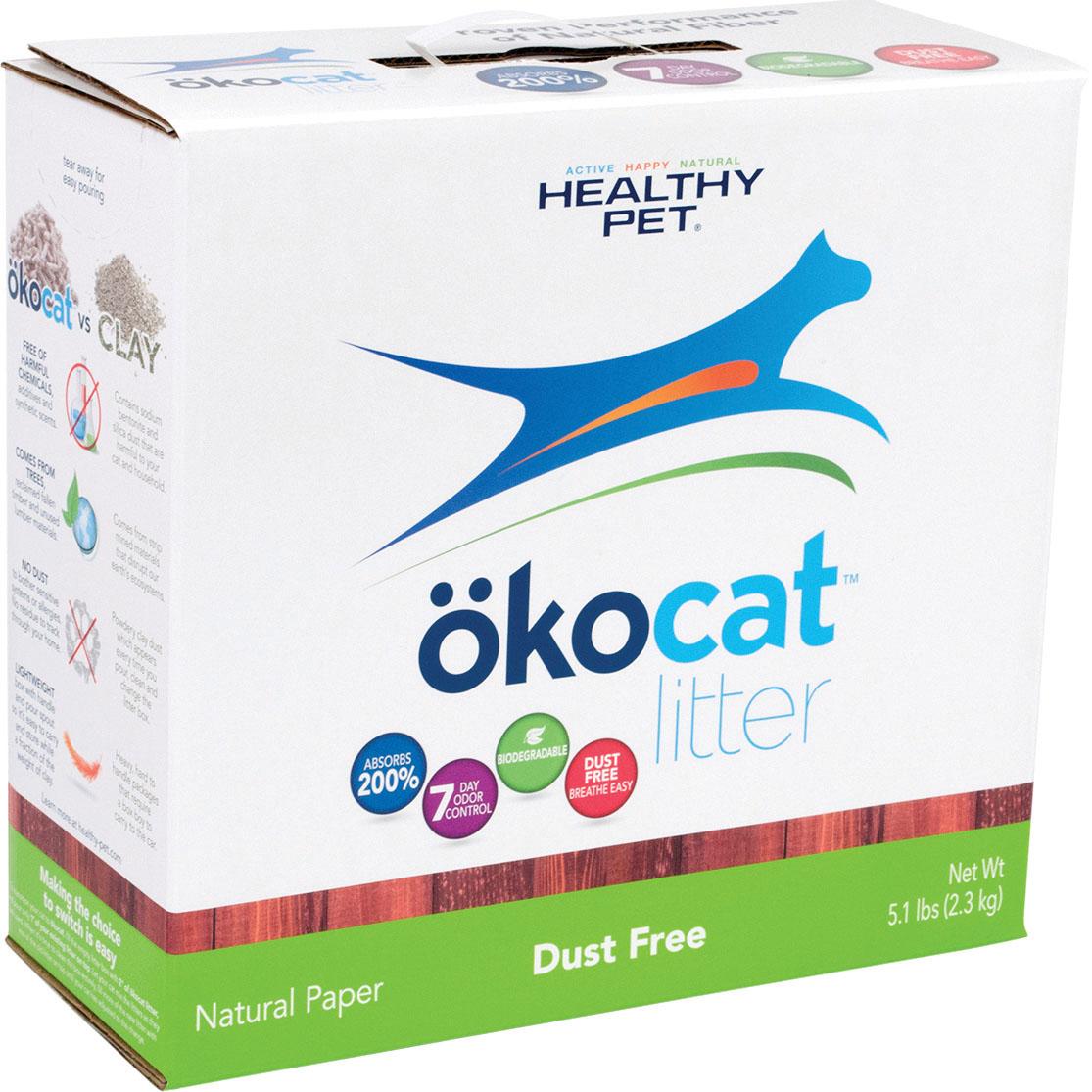 Okocat Natural Paper Dust Free Cat Litter, 5.1-lb