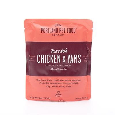 Portland Pet Food Tuxedo's Chicken & Yams Pouch Dog Meal, 9-oz