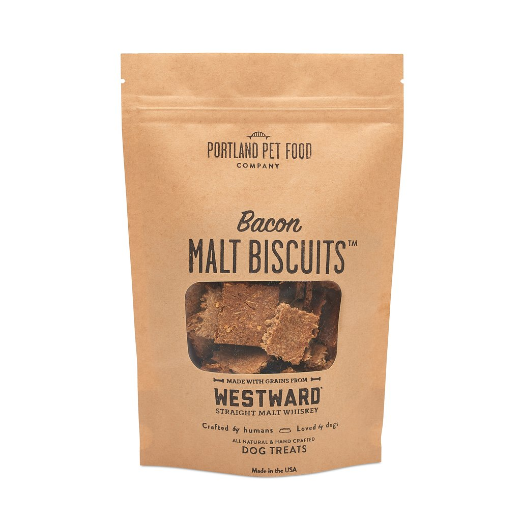 Portland Pet Food Malt Biscuits with Bacon Dog Treats, 5-oz