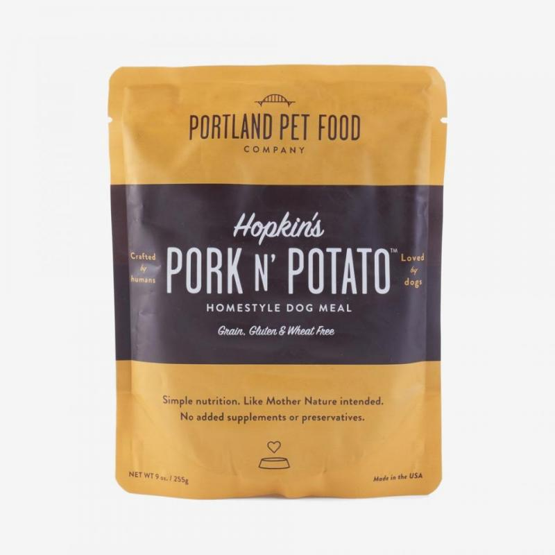 Portland Pet Food Hopkins' Pork N' Potato Grain Free Dog Meal, 9-oz