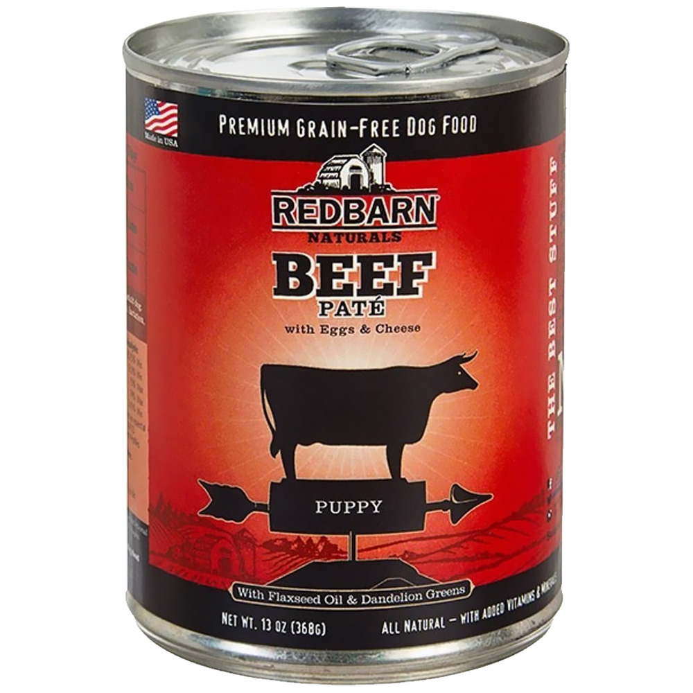 Red Barn Beef Pate PuppyFood, 13-oz