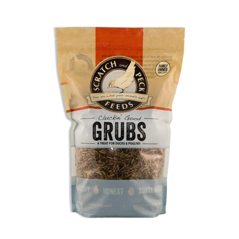 Scratch & Peck Feeds Cluckin' Good Grubs Duck & Chicken Treats, 3.5-lb
