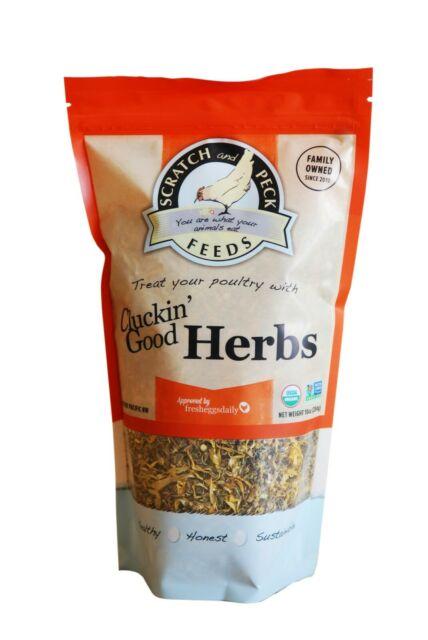 Scratch & Peck Feeds Cluckin' Good Organic Herbs Chicken Food, 10-oz
