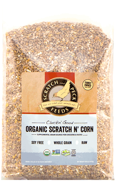 Scratch & Peck Organic Scratch N' Corn for Chickens, 25-lb