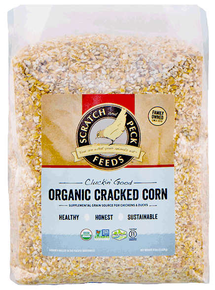 Scratch & Peck Feeds Scratch 'n Corn, Soy Free Organic for Chickens, 40-lb