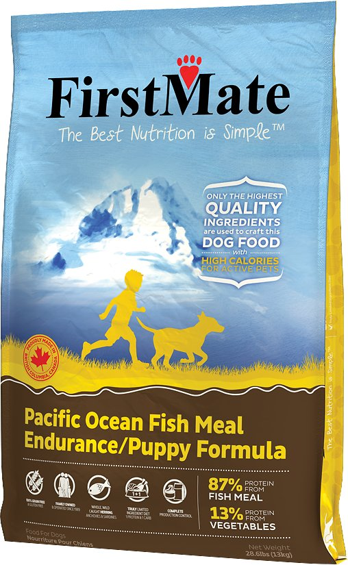 FirstMate Endurance/Puppy Pacific Ocean Fish Meal Formula Limited Ingredient Diet Grain-Free Dry Dog Food