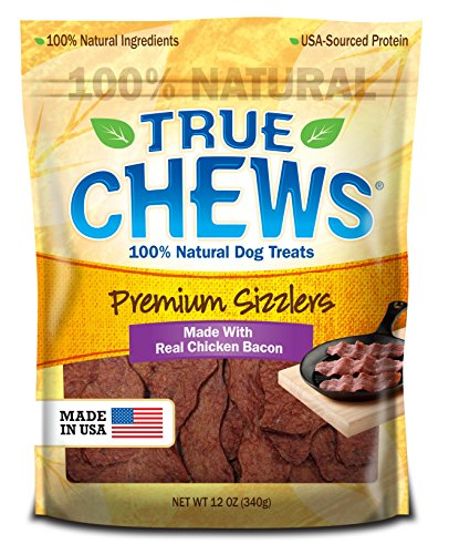 True Chews Premium Sizzlers with Real Chicken Bacon Dog Treats, 12-oz