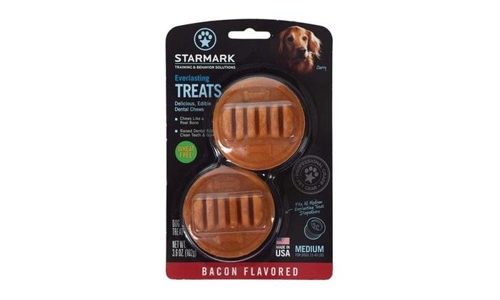 Starmark Everlasting Treats Bacon Flavor Dog Dental Chew, Medium