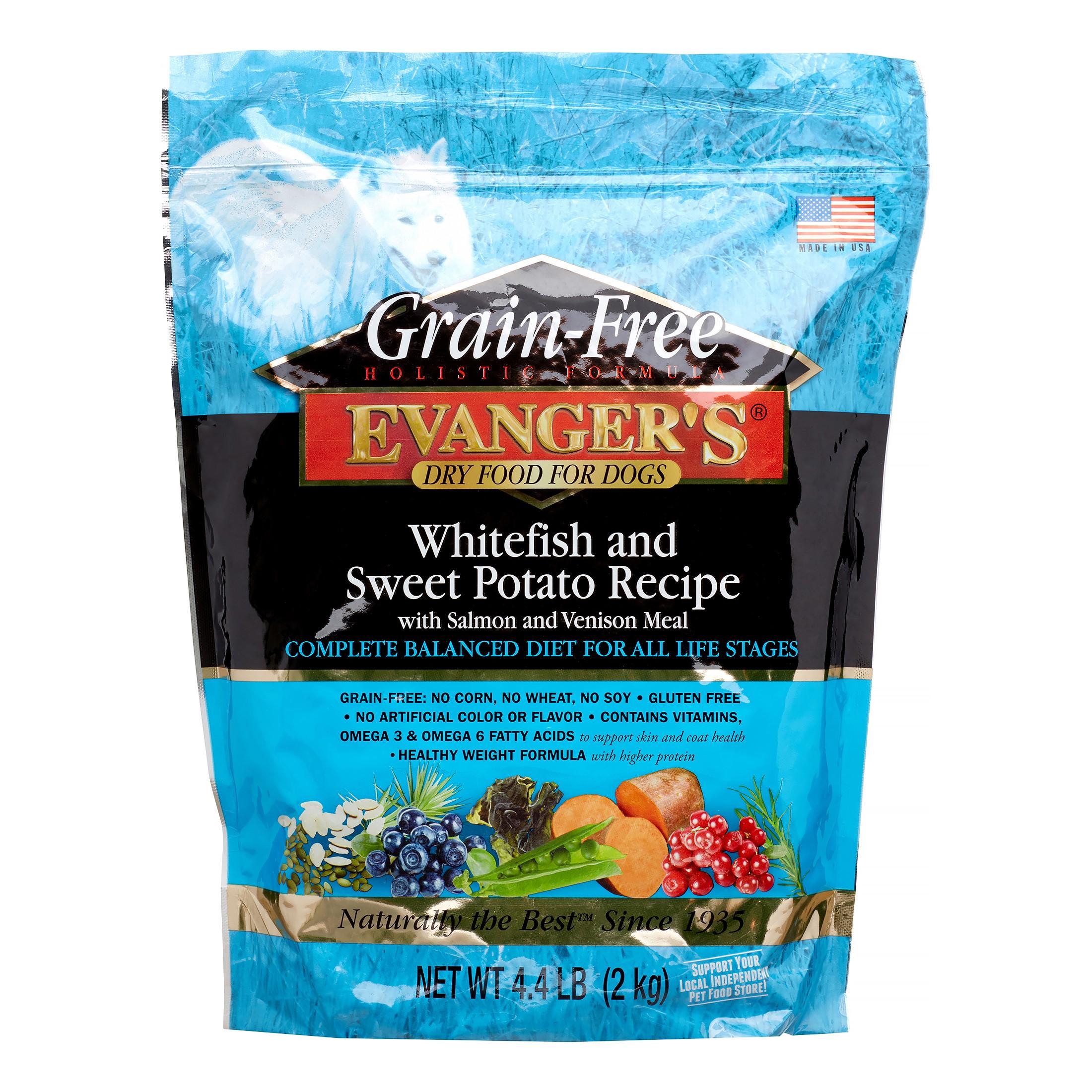 Evanger's Super Premium Whitefish & Sweet Potato Formula Grain-Free Dry Dog Food