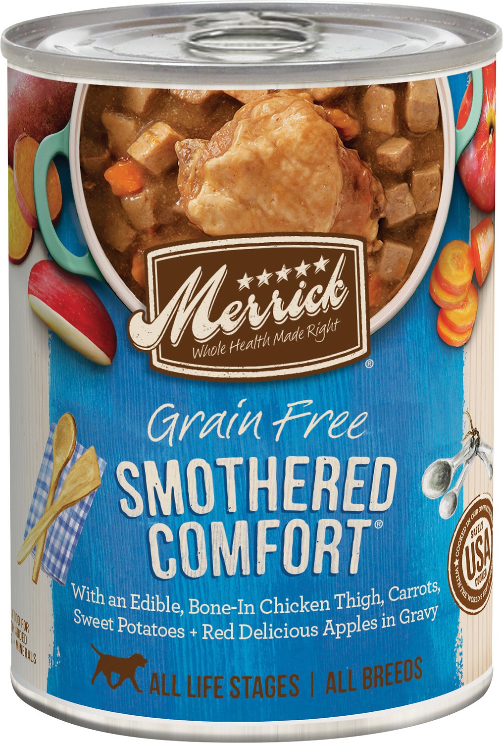 Merrick Grain-Free Smothered Comfort Canned Dog Food, 12-oz Size: 12-oz