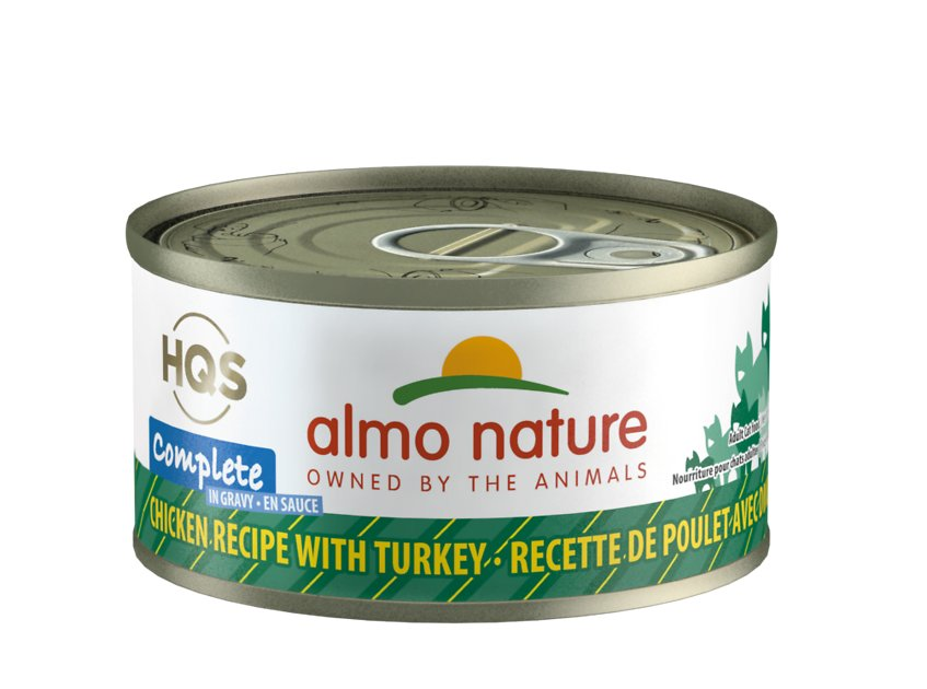 Almo Nature HQS Complete Chicken with Turkey Grain-Free Canned Cat Food, 2.4-oz