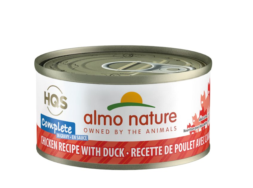 Almo Nature HQS Complete Chicken with Duck Grain-Free Canned Cat Food, 2.4-oz