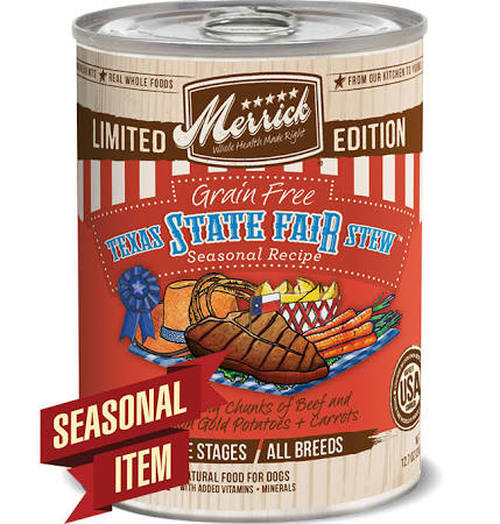 Merrick Limited Edition Grain-Free Texas State Fair Stew Canned Dog Food