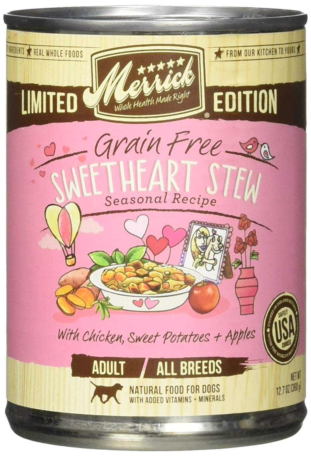 Merrick Limited Edition Grain-Free Sweetheart Stew Canned Dog Food