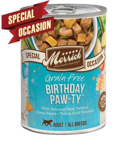 Merrick Special Occasion Grain-Free Birthday Pawty Canned Dog Food, 12.7-oz
