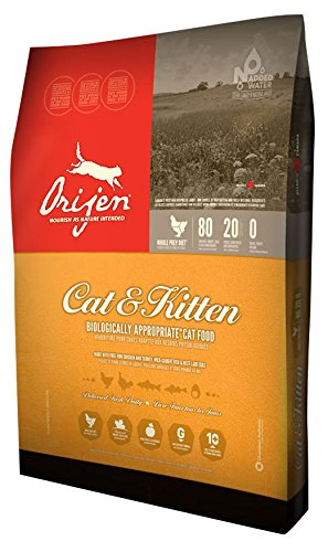 ORIJEN Cat and Kitten Grain Free Dry Cat Food, 12-oz