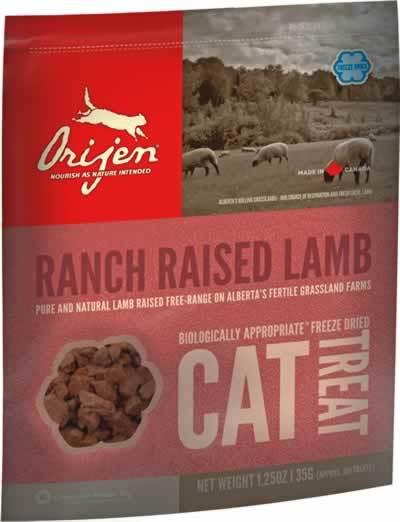 Orijen Treats Ranch Raised Lambs Freeze-Dried Cat Treats, 1.25-oz