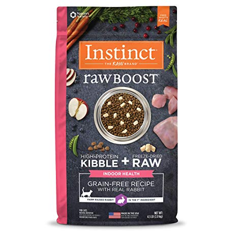 Instinct by Nature's Variety Rawboost Indoor Grain-Free with Real Rabbit Dry Cat Food, 4.5-lb bag