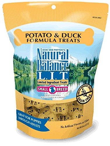 Natural Balance L.I.T. Limited Ingredient Treats Potato & Duck Formula Dog Treats, 8-oz, case of 12
