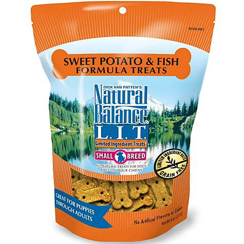 Natural Balance Sweet Potato and Fish Small Breed Treats, 8-oz, case of 12