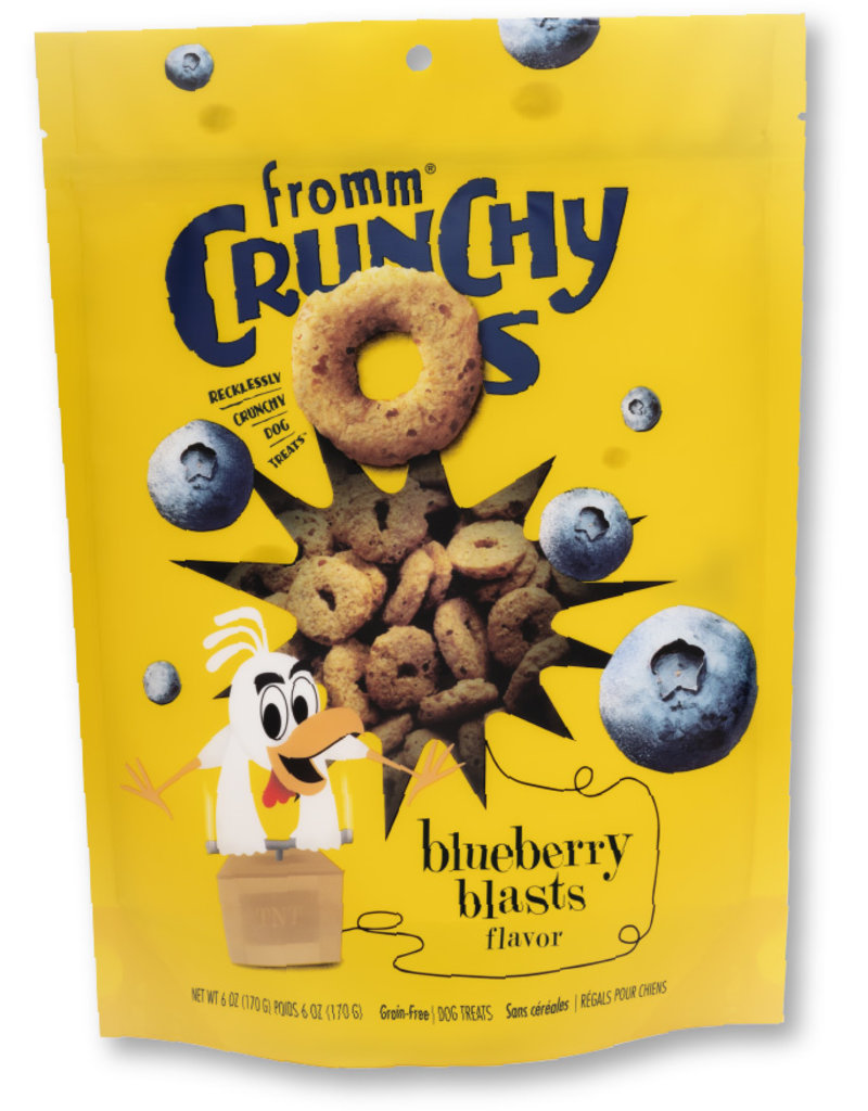 Fromm Treats Grain-Free Crunchy O's Blueberry Blasts with Chicken Dog Treats, 6-oz Size: 6-oz