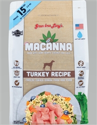 Grandma Lucy's Macanna Grain-Free Turkey Recipe Freeze-Dried Dog Food, 3-lb bag