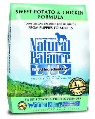 Natural Balance L.I.D. Limited Ingredient Diets Chicken & Sweet Potato Formula Grain-Free Dry Dog Food, 4.5-lb