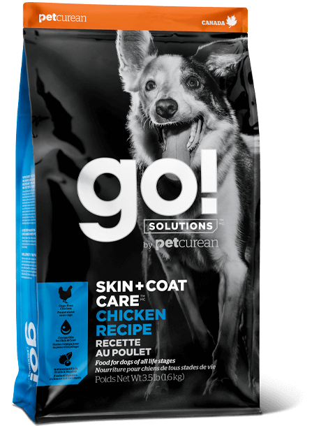 Petcurean Dog Go! Solutions Skin & Coat Care Chicken Recipe Dry Dog Food