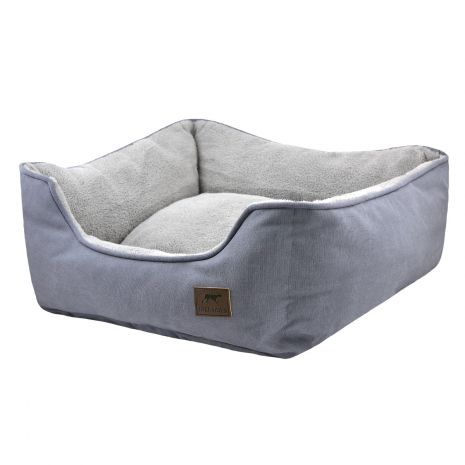 Tall Tails Dream Chaser Charcoal Bolster Dog Bed, Large