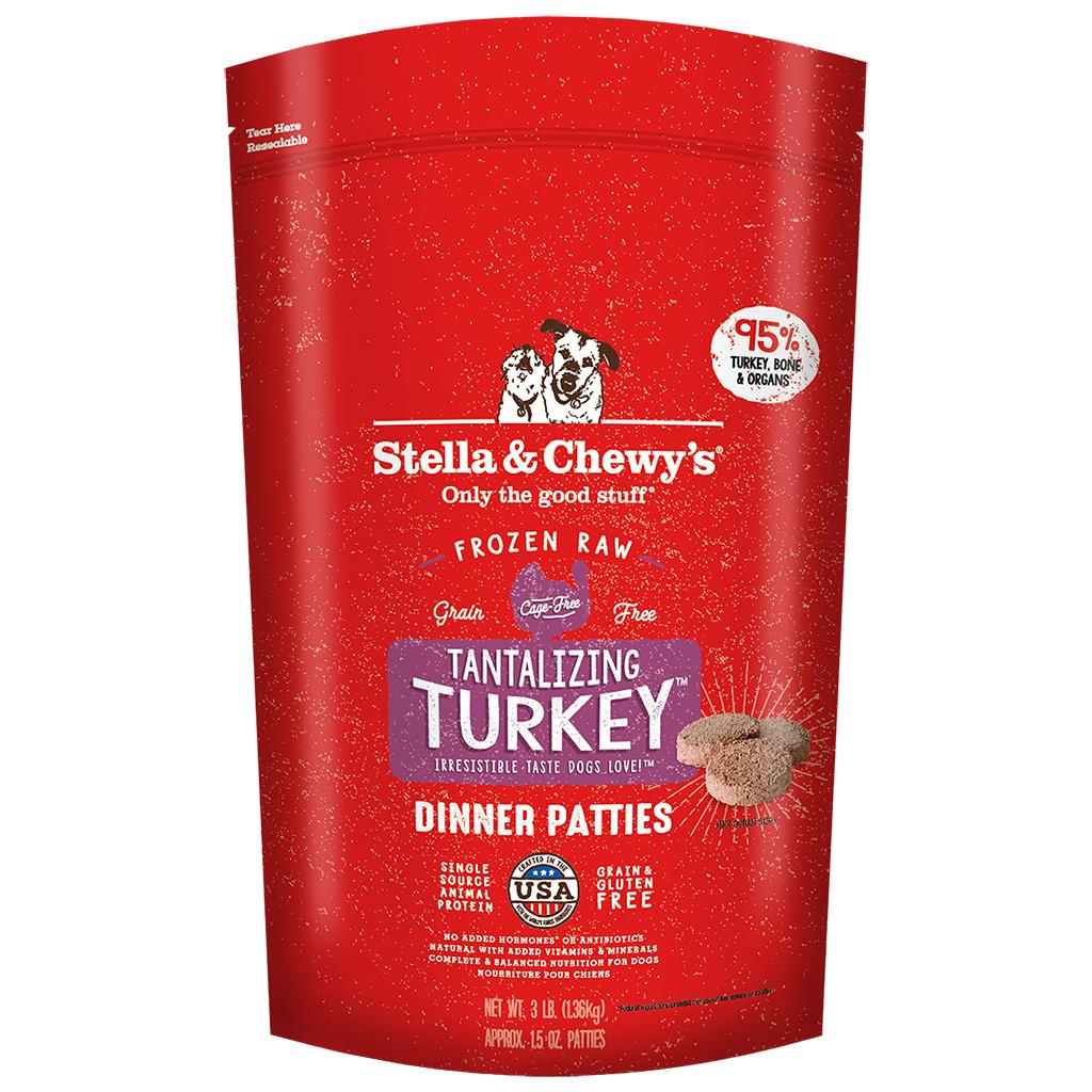 Stella & Chewy's  Tantalizing Turkey Dinner Patties Frozen Dog Food, 3-lb