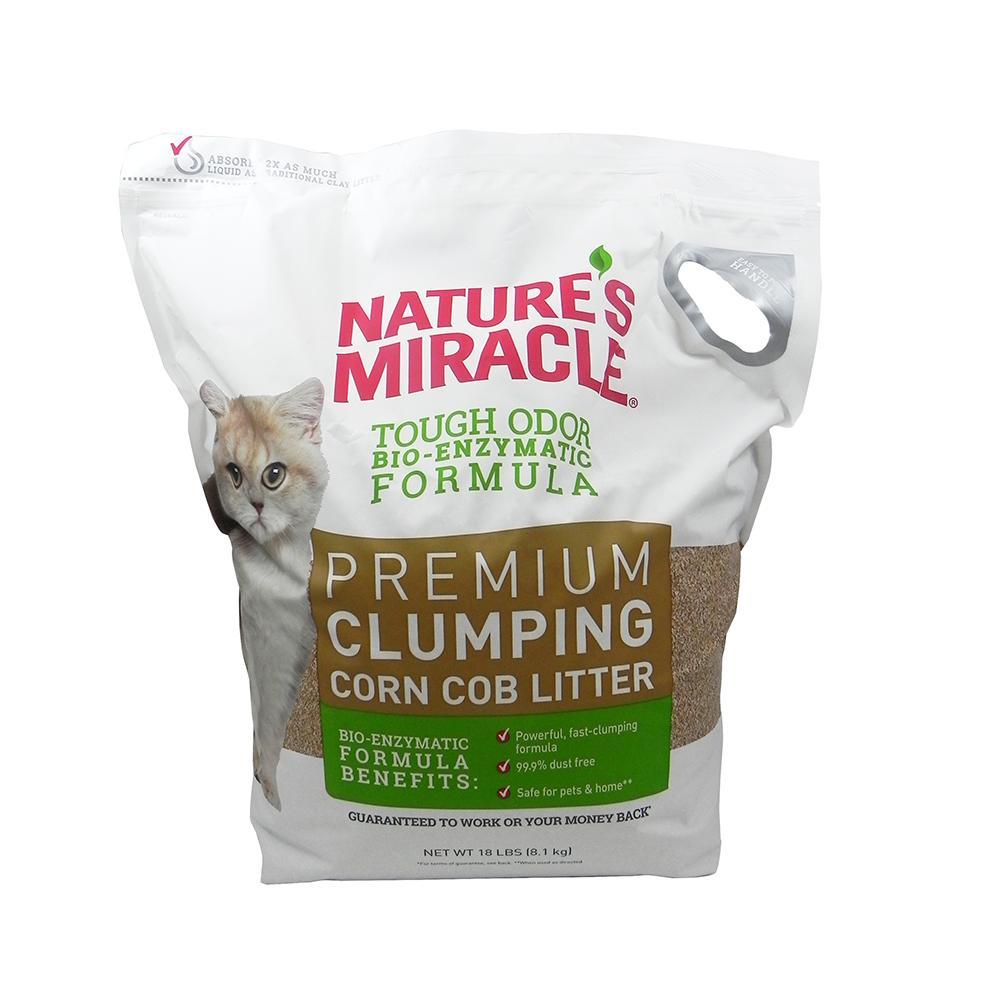 Nature's Miracle Clumping Corn Cob Cat Litter, 10-lb