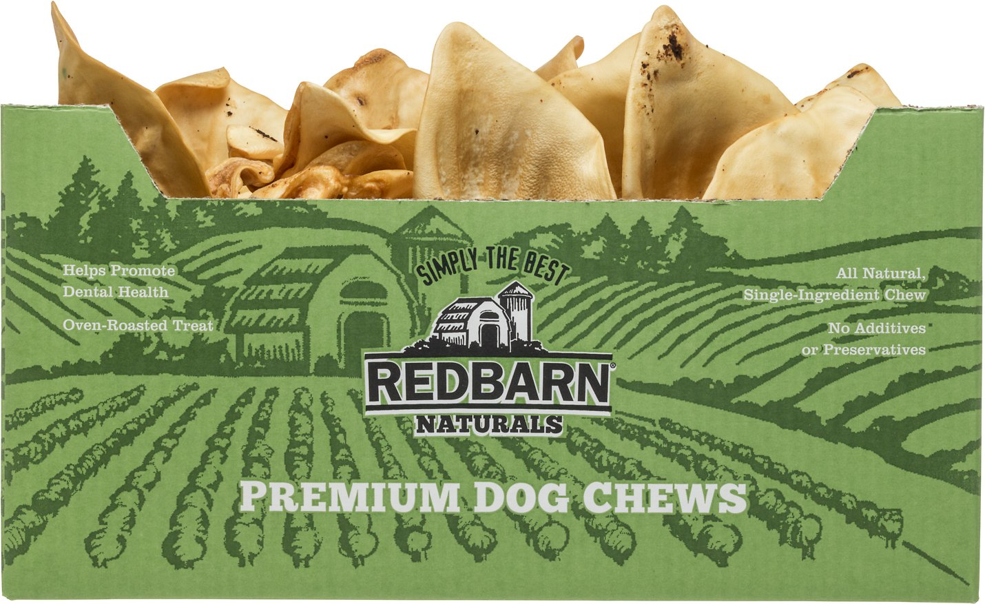 Redbarn Naturals Puffed Sow Ears Dog Treats, 40-count
