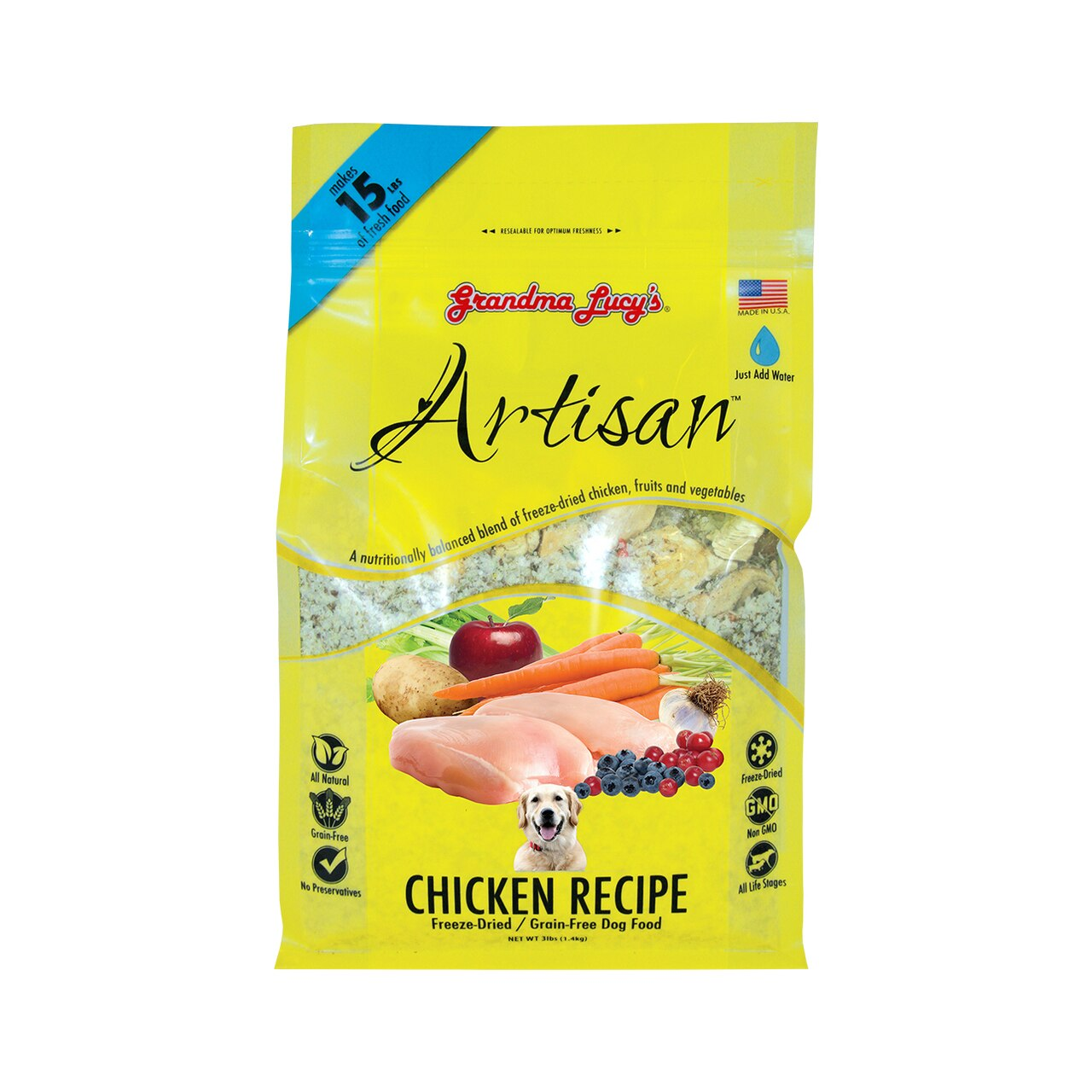 Grandma Lucy's Artisan Grain-Free Chicken Freeze-Dried Dog Food