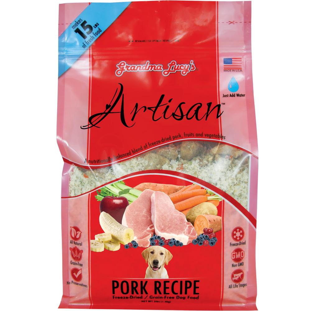Grandma Lucy's Artisan Grain-Free Pork Freeze-Dried Dog Food