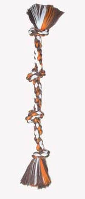 Mammoth 4 Knot Color Chew Rope Tug Dog Toy, Large