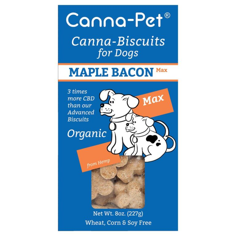 Canna-Pet Canna-Biscuits Max Organic Maple Bacon Dog Treats, 8-oz