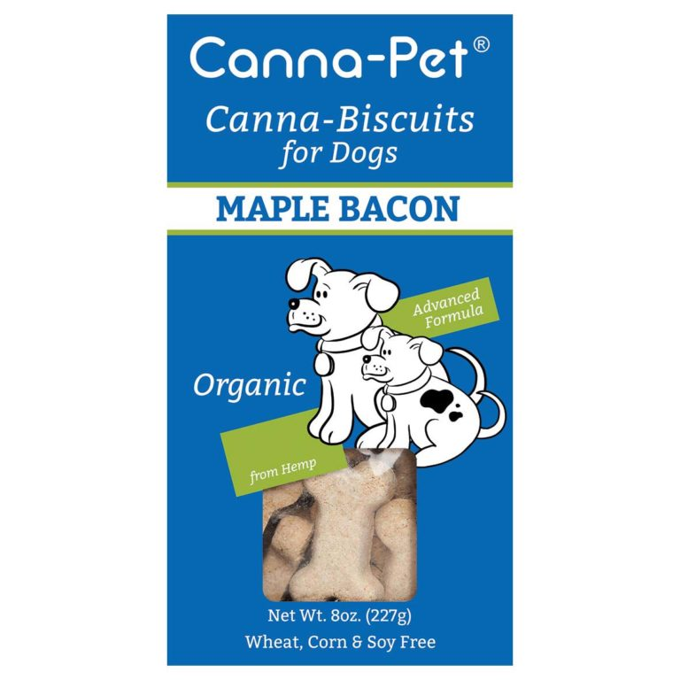 Canna-Pet Canna-Biscuits Advanced Formula Organic Maple Bacon Dog Treats, 8-oz